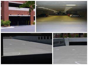 Parking deck collage