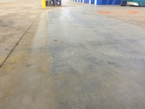 With One Pass of our warehouse sweeper, you can see that there is no dust kick up and you can see the difference Watt Commercial makes!